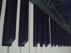 MIDI keyboard - A close up of one style of MIDI keyboard based on the piano user interface