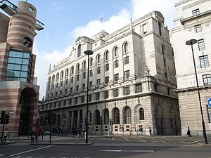 Midland Bank - The Lutyens-designed Midland Bank Head Office building, London.