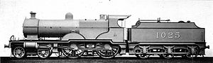 Midland Railway 1000 Class - 1025 in photographic grey livery