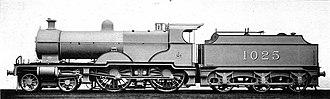 Midland Railway 1000 Class - 1025 in photographic grey livery
