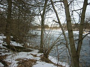 Cannon River (Minnesota) - The Cannon River as seen from a snowshoe trail in Miesville Ravine Park Reserve on a winter day.