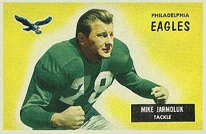 Mike Jarmoluk - Jarmoluk on a 1955 Bowman football card