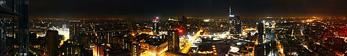Milan Porta Nuova business district by night 02.jpg