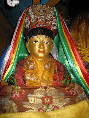 Milarepa - A famous statue of Milarepa brought from Nyanang Phelgyeling Monastery, Tibet