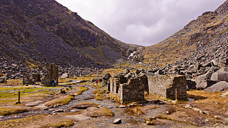 Wicklow Mountains - Miners' village in Glendalough