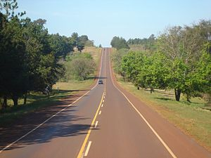 Misiones Province - View along Route 12, near Puerto Iguazu.
