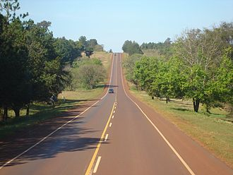 National Route 12 (Argentina) - National Route 12 near Puerto Iguazú