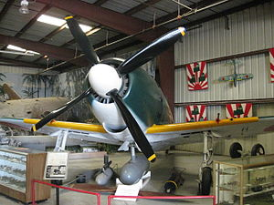 Mitsubishi J2M3 propeller and engine view.JPG