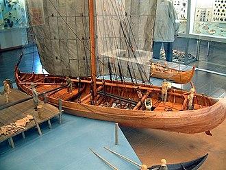 Medieval ships - Model of a Knarr