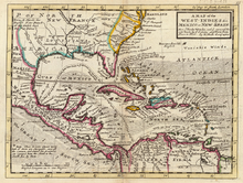 alt=Description de l'image Moll - A Map of the West-Indies.png.