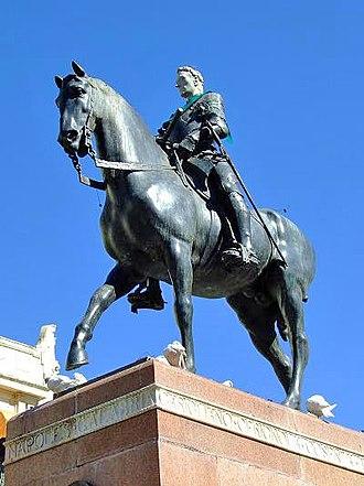 Gonzalo Fernández de Córdoba - Equestrian statue of Gonzalo de Córdoba  by Mateo Inurria, erected in Córdoba in 1923
