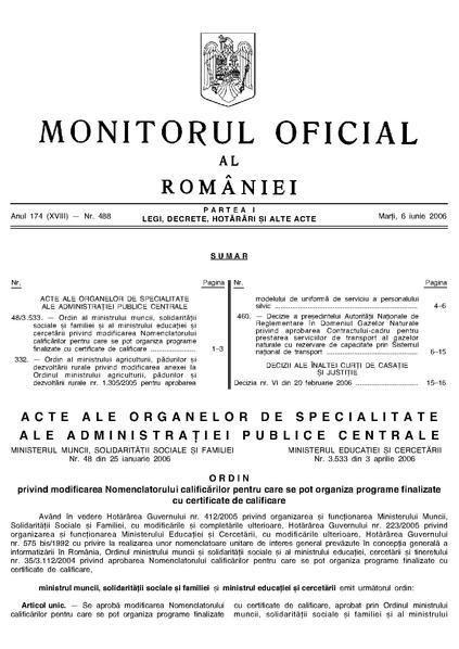 File:Monitorul Oficial al României. Partea I 2006-06-06, nr. 488.pdf