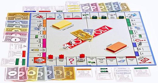 Monopoly board on white bg.