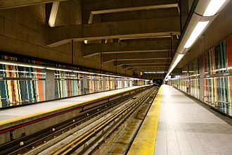 Montmorency station (Montreal Metro) - Image: Montmorency Metro Station