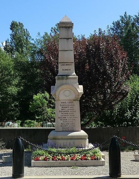 Monument aux morts de Pugieu.