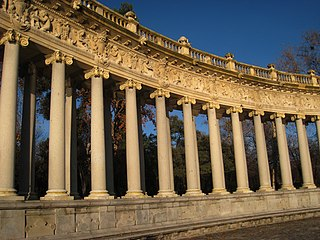 Monument to Alfonso XII of Spain, Madrid - columns 2.JPG