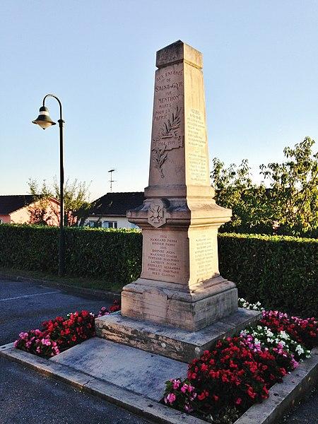 Monuments aux morts de la commune de Saint-Cyr-sur-Menthon
