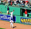 Mookie Betts makes a spectacular play, robs Nats of a homer (23327352881).jpg