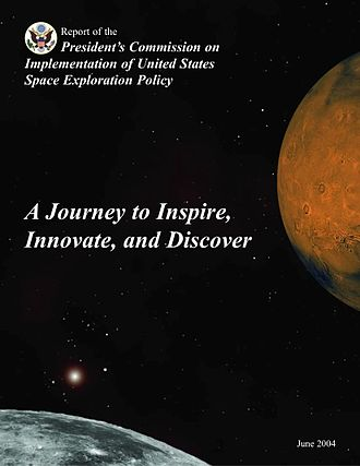 Vision for Space Exploration - Cover page of report of Aldridge Commission, Report of the President's Commission on Implementation of United States Space Exploration Policy, 2004