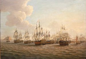 Battle of Cape St. Vincent (1780) - Image: Moonlight battle Aftermath