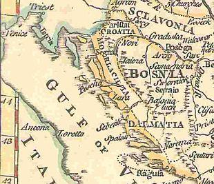 Cartina Muta Della Croazia.Dalmazia Wikipedia