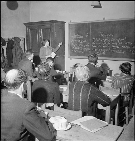 Morley College in Wartime- Everyday Life at Morley College, Westminster Bridge Road, London, England, UK, 1944 D20424