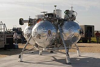Project Morpheus - Morpheus Lander in launch position