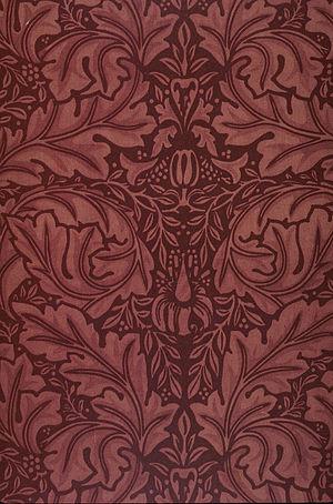 Velveteen - Block-printed velveteen fabric designed by William Morris