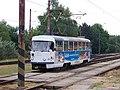 Most, nádraží, tram 300 - Čedok, ve smyčce.jpg