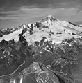Mount Katmai, mountain glaciers with icefall, firn line, and bergschrund, August 24, 1960 (GLACIERS 7024).jpg