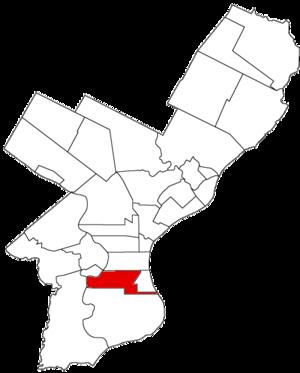 Moyamensing, Philadelphia - Image: Moyamensing Dist 1854