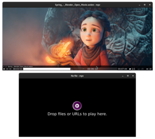 mpv (media player) free and open-source media player