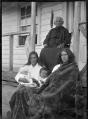 Mrs Iruwera with members of her family at Rangiahua, 1918. ATLIB 296499.png