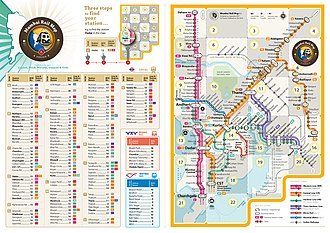 Mumbai Suburban Railway - Complete map with index for Mumbai suburban rail network (Western Line, Central Line, Harbour Line, Trans Harbour Line, Mumbai Metro, Mono Rail)