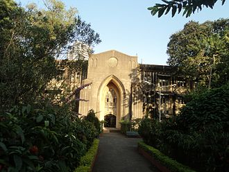 University of Mumbai - The University's administration building with the Bombay Stock Exchange in the background