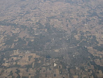 Muncie, Indiana - Muncie and Yorktown looking north in 2012.
