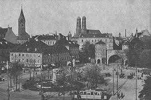 Der Sendlinger-Tor-Platz in München