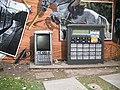 Mural, Kelvingrove Park, mobile and calculator - geograph.org.uk - 1517043.jpg