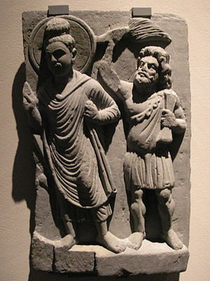 The protector Vajrapani of the Buddha is another incarnation of Heracles (Gandhara, 1st century CE).