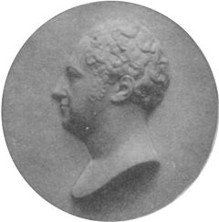 Porträt, Georg von Reinbeck, 1807, Gipsmedaillon von Heinrich Max Imhof . (Quelle: Wikimedia)