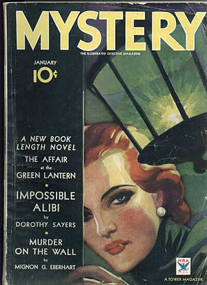 Mystery fiction - Mystery, 1934 mystery fiction magazine cover