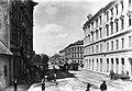 Népszínház utca a körút felé nézve, távolban a Népszínház épülete. A felvétel 1895 körül készült. Fortepan 57557.jpg