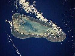 Imagine satelitară a atolului Aldabra