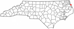 Location of Southern Shores, North Carolina