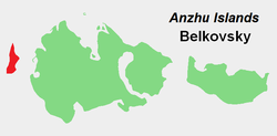 Location of Belkovsky Island in the Anzhu subgroup.