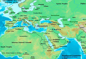 Ancient Carthage - Mediterranean sea nations in 323 BC.