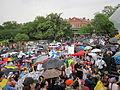 NOLA BP Oil Flood Protest brollys Pontalba.JPG