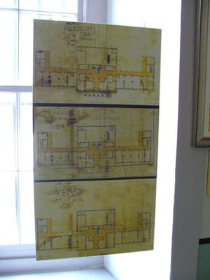 New Orleans Mint - This photo from the Louisiana State Museum in the old U.S. Mint shows the original 1835 plans for the building by William Strickland. The Mint building retains this basic W-shaped design today.