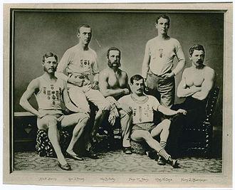 Harry Buermeyer - N.Y.A.C. Track Team, Harry Buermeyer (right), circa 1873