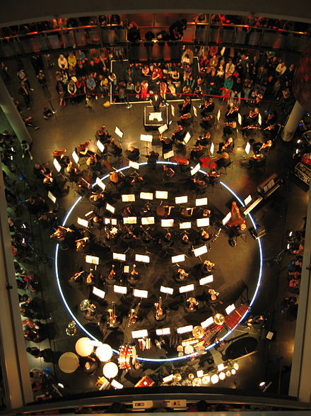 NZSO playing at Museum of New Zealand Te Papa Tongarewa. NZSO playing at Te Papa.jpg